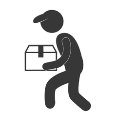 Package delivery and logistics related pictogram vector