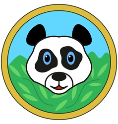 Panda bear head vector