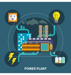 Power plant design vector image