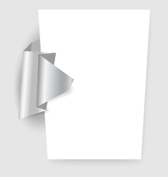 Presentation template with origami element vector image