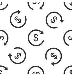 refund money seamless pattern on white background vector image