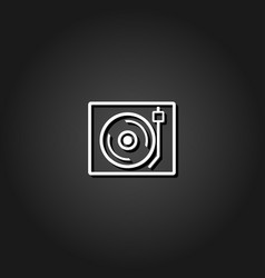 retro music icon flat vector image