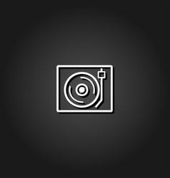 Retro music icon flat vector