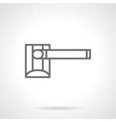 Roadblock barrier simple line icon vector image