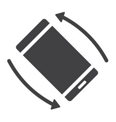 Rotate smartphone glyph icon web and mobile vector