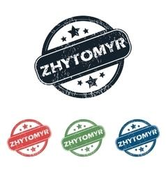 Round Zhytomyr city stamp set vector image