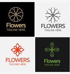 Royal flower logo template vector