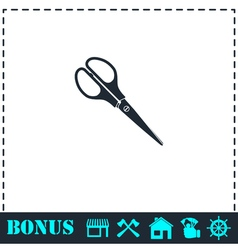 Scissors icon flat vector image