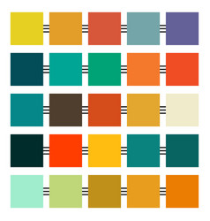 set retro colours two vector image