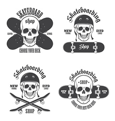 Skateboard emblems 2 vector image