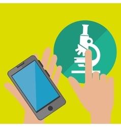 smartphone service medical icon vector image