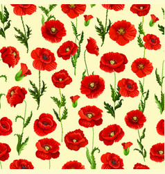 Spring flower field seamless pattern background vector