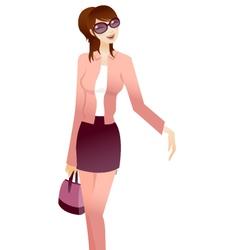 stylish woman vector image
