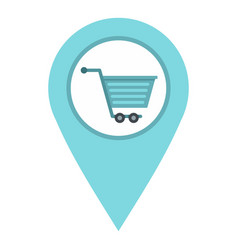 Supermarket location icon isolated vector