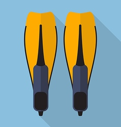 Swimming flippers flat icon vector image
