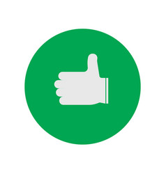 Thumbs up icon in shape vector