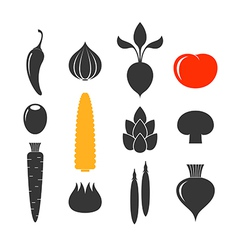 Vegetable Icon set vector image