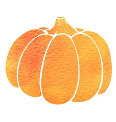 Watercolor silhouette of pumpkin vector image