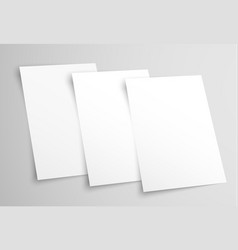 White blank a4 paper templates for presentation vector