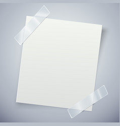 White paper note with the adhesive tape vector