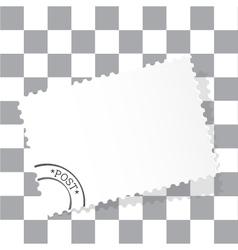 White post card vector