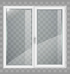 white window with transparent glass vector image