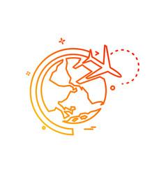 world icon design vector image