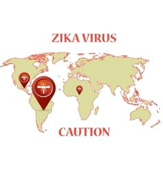 Zika Virus with mosquito earth map infographic vector