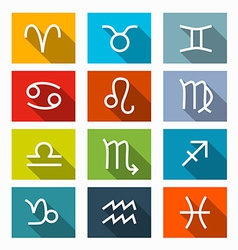 Zodiac - Horoscope Square Icons Set vector image