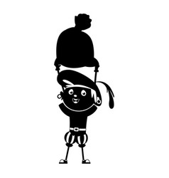 zwarte piet silhouette vector image