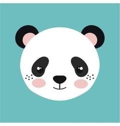 cute panda bear isolated icon design vector image vector image