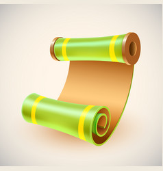 old golden manuscript ancient scroll icon vector image