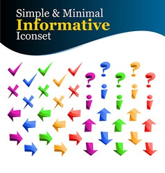 simple and minimal iconset vector image vector image