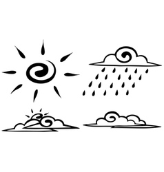Sketch Set forecast icon vector image