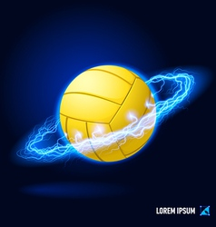 Volleyball high voltage vector image