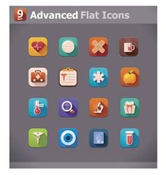 flat medicine icons vector image