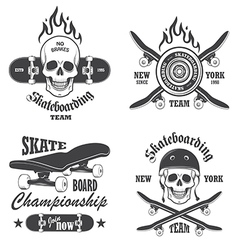 Skateboard emblems vector image