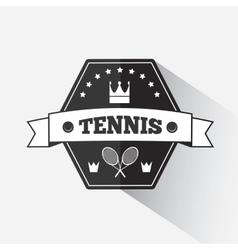 Tennis emblem template vector image
