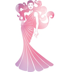 vertical girl with turban vector image