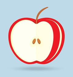 apple slices isolated on background vector image