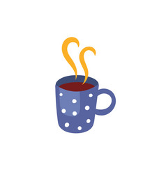 hot beverage cup flat isolated vector image