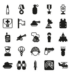 icons set for military infographics mobile game vector image