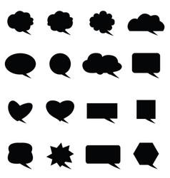 speech bubble icon set vector image