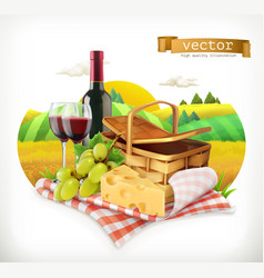 time for a picnic nature outdoor recreation a vector image vector image