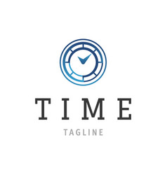 time logo design time concept or clock business vector image