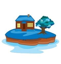 Winter on island vector image vector image