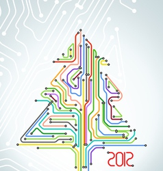 Abstract metro scheme christmas card vector image