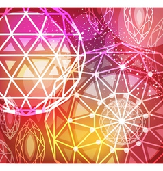 Abstract red background with linear diamonds vector image vector image