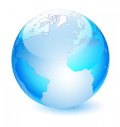 glass globe vector image vector image