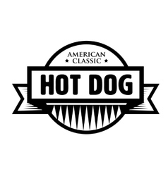 Hot Dog - American Classic vintage stamp vector image